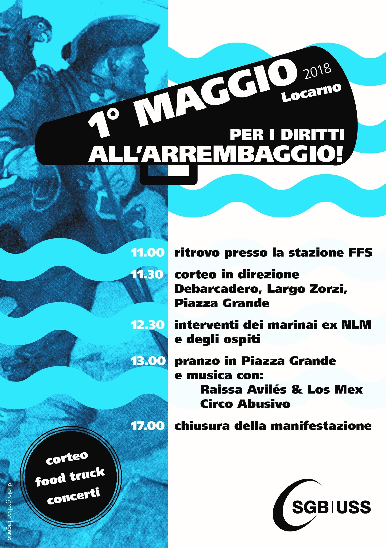 Giornata dei Lavoratori / Corteo sindacale @ Stazione FFS di Locarno