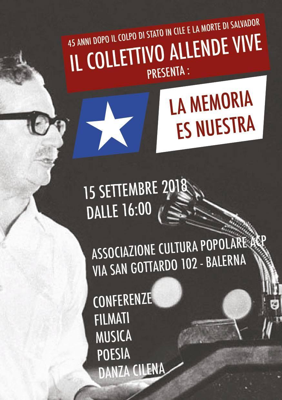 Allende vive: a 45 anni dal golpe in Cile @ Associazione Cultura Popolare