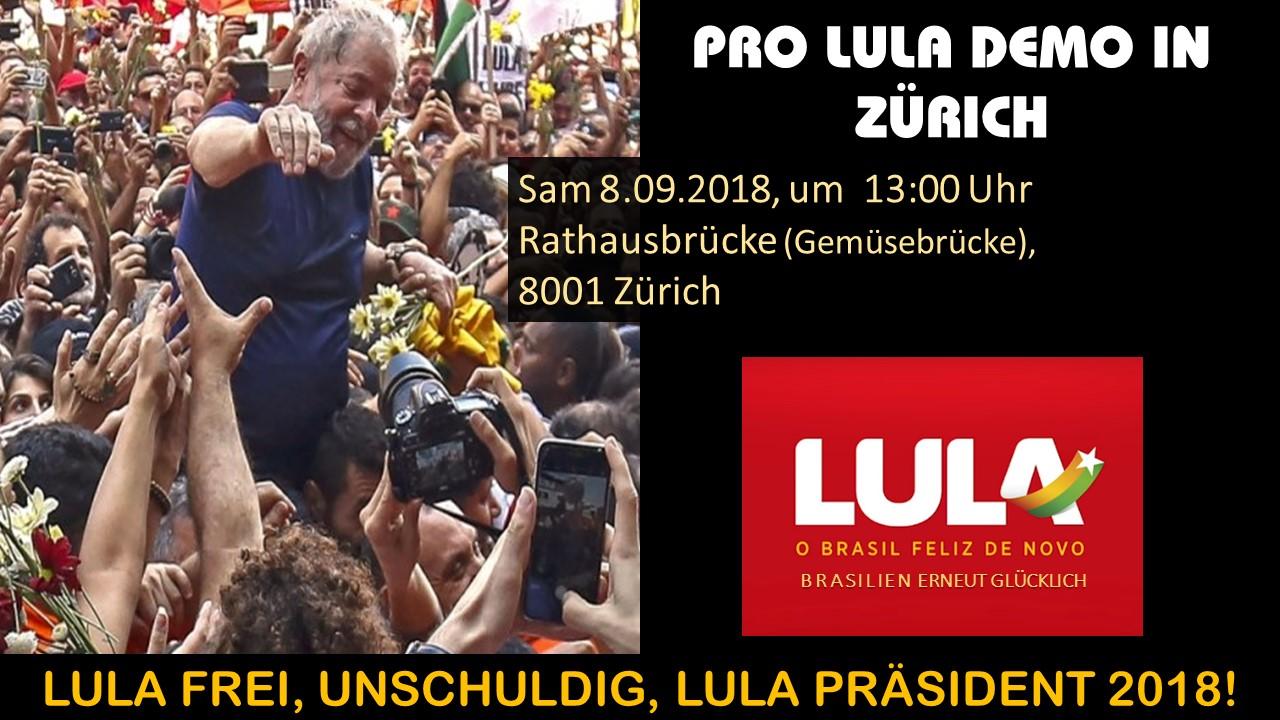 Manifestazione per Lula e il Brasile @ Rathausbrücke (Ponte del Municipio)