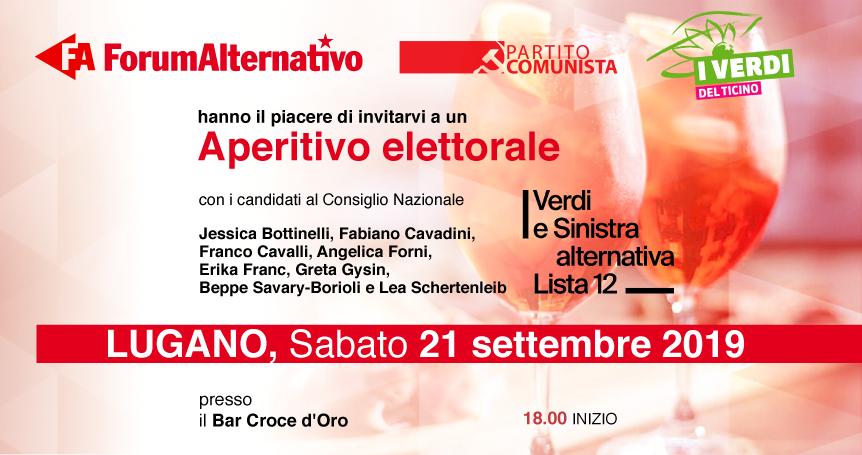 """Aperitivo elettorale della lista 12 """"Verdi e Sinistra Alternativa"""" @ Bar Croce d'Oro"""
