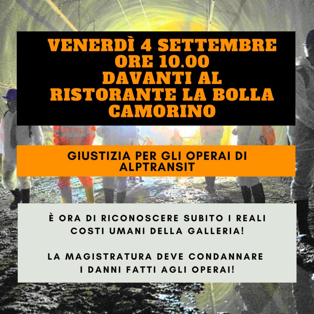 """Manifestazione al cantiere AlpTransit @ Davanti al Ristorante """"La Bolla"""""""