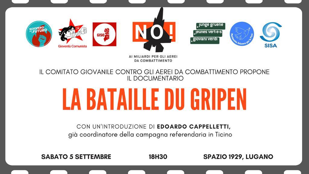 "Cineforum ""La bataille du Gripen"" @ Spazio 1929"