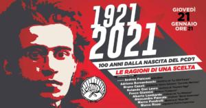 1921-2021: 100 anni dalla nascita del Partito Comunista d'Italia @ su YouTube e Facebook