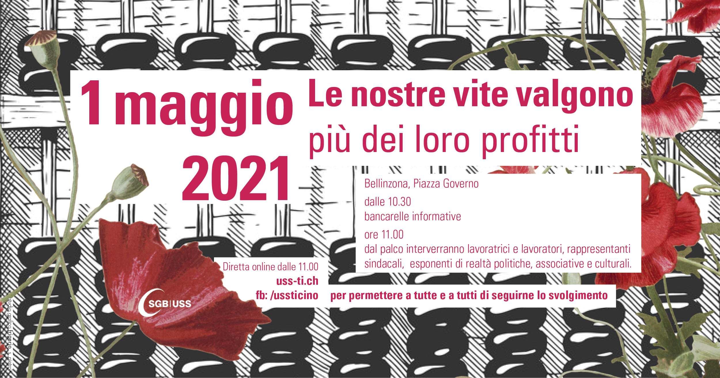 1° Maggio con i sindacati a Bellinzona @ Piazza Governo