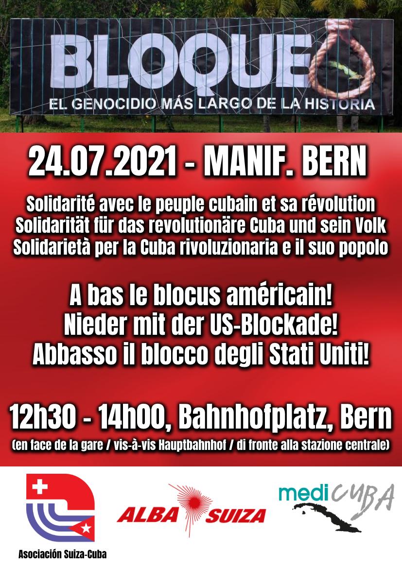 A Berna in solidarietà con Cuba